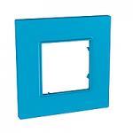 Cover Frame Unica Quadro, Aqua, 1 gang