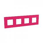 Cover Frame Unica Quadro, Lipstick, 4 gangs