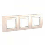Cover Frame Unica Plus, Ivory/Ivory, 3 gangs