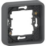 Mureva Styl - cover frame for socket outlet - 1 gang - grey