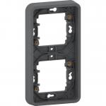 Mureva Styl - cover frame for socket outlet - 2 gangs - vertical - grey