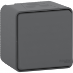Mureva Styl - push-button - surface mounting - grey