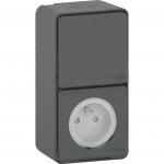 Mureva Styl - outlet pinE + 2-way switch - grey