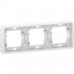 Mureva Styl - cover frame for socket outlet - 3 gangs - horizontal - white
