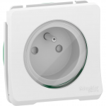 Mureva Styl - power socket-outlet with pinE - 16A 250V - 2P + E with shutters - white