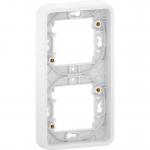 Mureva Styl - cover frame for socket outlet - 2 gangs - vertical - white