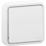 Mureva Styl - two-way sw with claws - flush mounting - white