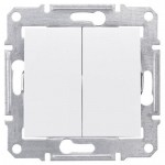 2-circuit Switch 10 AX - 250 V AC, White