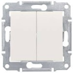 2-circuit Switch 10 AX - 250 V AC, Cream