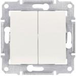 2-circuit Switch 10 AX - 250 V AC, Beige