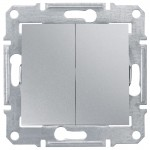 2-circuit Switch 10 AX - 250 V AC, Aluminium
