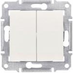 Double 2-way Switch 10 AX - 250 V AC, Beige