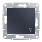 1-way Push-button 10 A - 250 V AC with light symbol, Graphite