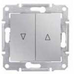 Mechanism for roller blinds with mechanical interlock 10 AX - 250 V AC, Aluminium
