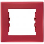 Cover Frame 1 gang, Red, Horizontal