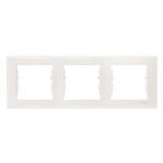 Cover Frame 3 gangs, Beige, Horizontal
