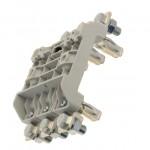 Fuse-base, LV, 160 A, AC 690 V, NH00, 3P, IEC, integral base moulding, DIN rail mount