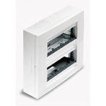 Surface mounting box, Horizontal 2 rows, Ivory