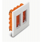 Flush mounting box, Vertical 2 columns, White