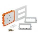 Flush mounting box, Horizontal 2 rows, White