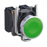 Flush Pushbutton 1 N/O, Unmarked, Green