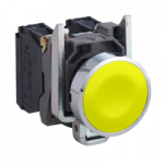 Flush Pushbutton 1 N/O, Unmarked, Yellow