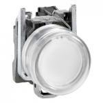 Projecting Pushbutton 1 N/O, White - ATEX
