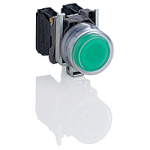 Projecting Pushbutton 1 N/O, Unmarked, Green