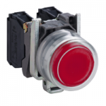 Projecting Pushbutton 1 N/C, Unmarked, Red