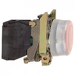 Flush Illuminated pushbutton 1 N/C, Red - ATEX