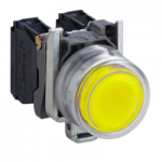 Projecting Pushbutton 1 N/O, Unmarked, Yellow