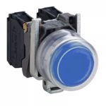 Projecting Pushbutton 1 N/O, Unmarked, Blue