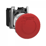 Mushroom Emergency stop 1 N/O + 1 N/C, Red - ATEX