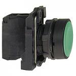 Flush Pushbutton 1 N/O, Unmarked, Black