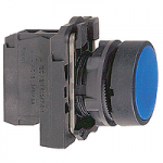 Flush Pushbutton 1 N/O + 1 N/C, Unmarked, Blue
