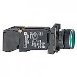 Flush Illuminated pushbutton 1 N/O + 1 N/C, BA 9s 220-240 V AC, Green