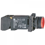 Flush Illuminated pushbutton 1 N/O + 1 N/C, BA 9s 220-240 V AC, Red