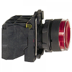 Flush Illuminated pushbutton 1 N/O + 1 N/C, BA 9s ≤250 V, Red