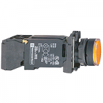 Flush Illuminated pushbutton 1 N/O + 1 N/C, BA 9s 220-240 V AC, Orange