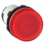 Pilot light with BA 9s base fitting 230 V AC, Red