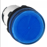Pilot light with BA 9s base fitting 230 V AC, Blue