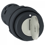 Key switch 2 N/O, 3 positions +/- 45°, with Ronis 455