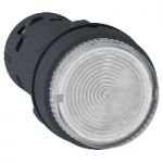 Monolithic illuminated projecting pushbutton 1 N/O, Integral LED, Clear