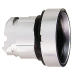 Black Recessed pushbutton head, Spring return, Unmarked
