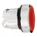 Red Flush pushbutton head, Spring return, Unmarked