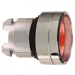Red Recessed pushbutton head, Spring return, Unmarked