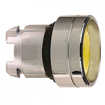 Yellow Recessed pushbutton head, Spring return, Unmarked