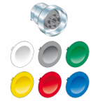 6 color caps Flush  pushbutton, Spring return Unmarked