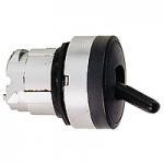 Black Toggle switch, Spring return, 2 positions 90°