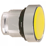 Yellow Flush head for pushbutton, Push-push with